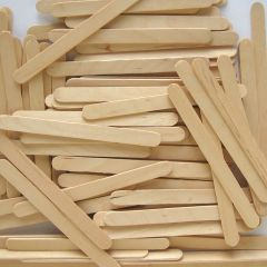 1000 Wooden Lolly Sticks (Natural 115x11mm)