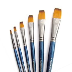 Curtisward Mastertouch Aquamarine Flat Artists Watercolour 6 Brush Set