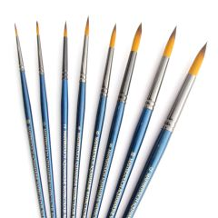 Curtisward Mastertouch Aquamarine Round Artists Watercolour 8 Brush Set