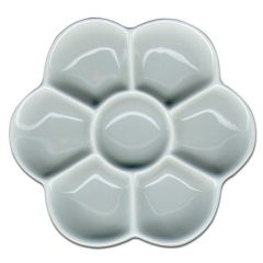 Artists Small Porcelain Daisy Palette 7 Wells 120mm