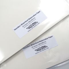 Saunders Waterford Hot Pressed Watercolour Paper 380x280mm 20 Sheet Pack 300gsm