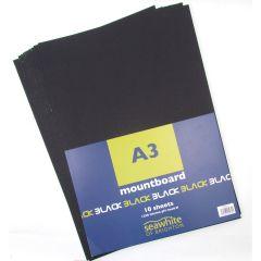 A3 Black Mountboard 10 Sheets