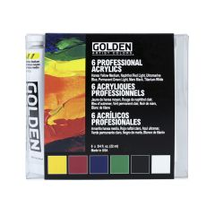 Golden Heavy Body Artists Acrylic Introductory Set 6 x 22ml