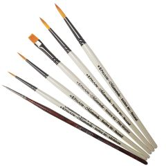 Pro Arte Masterstroke Set B and Curtisward Panache 000 Set of 6 Artists Brushes