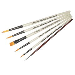 Pro Arte Masterstroke Set C and Curtisward Panache 000 Set of 6 Artists Brushes