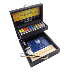 Sennelier Artists Watercolour Wooden Box Set of 11 x 10ml Tubes
