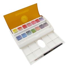 Sennelier Artists Watercolour Travel Box Set of 14 Half Pans