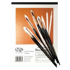 Pro Arte Sablene Synthetic Sable W15 Watercolour Brush Set & CW Bockingford Mix Pad A4