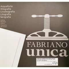 "Fabriano UNICA Printmaking Paper 250gsm 15""x11"" 40 Sheets"