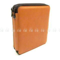 Speedball Global Leather 72 Pencil Case. Brown