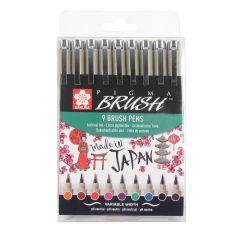 Sakura Pigma Brush Drawing Pen Set of 9