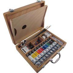 Van Gogh Artists Oil Wooden Box Set. Artists Paints, Mediums & Brushes.