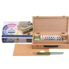Talens Extra Fine Quality Designers Gouache Wooden Box Set