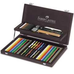 Faber Castell Art and Graphic Compendium Wooden Case Set