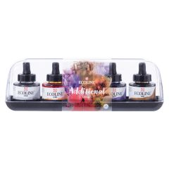 Talens Ecoline Liquid Watercolour Drawing Ink Additional Set 5 x 30ml