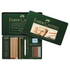 Faber Castell Pitt Monochrome Tin set of 25