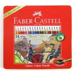 Faber Castell Classic 24 Colour Pencils in Metal Tin Box