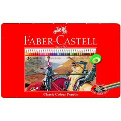 Faber Castell 36 Classic Colour Pencils in a Tin
