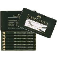 Faber Castell Finest Artist 9000 12 Drawing Pencil Tin Design Set