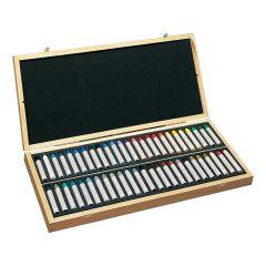 Sennelier 50 Assorted Oil Pastel Wooden Box Set. Artists Quality Pastels