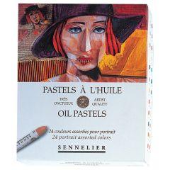 Sennelier Oil Pastels Box Set of 24 Portrait Colours