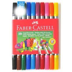 Faber-Castell Double Ended Felt Tip Pens Pack of 10