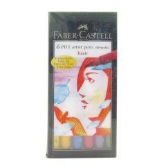 Faber Castell Artist Pitt Brush Pens Basic Colours Wallet Set of 6