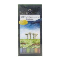 Faber Castell Pitt Artist 6 Brush Pen Wallet Set Landscape