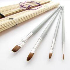 Da Vinci Red Sable Brush Set in Bamboo Brush Roll Set 4017