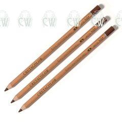 3 X Cretacolor Artists Dark Sepia Dry Pastel Pencils