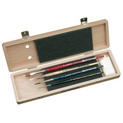 Da Vinci Watercolour Brush Set in a Wooden Box (5279)