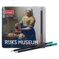 Bruynzeel Rijks Museum Vermeer 'The Milkmaid' 24 Colour Pencil Tin Set