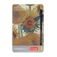 Bruynzeel Coloured Pencil Tin Set of 12 The National Gallery 'Sunflowers'