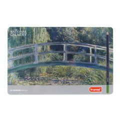 Bruynzeel Coloured Pencil Tin Set of 36 The National Gallery 'The Water-Lily Pond'