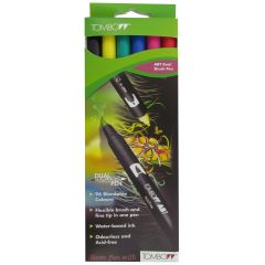 Tombow ABT Dual Brush Pen 6 Colour Primary Set