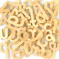 Wooden Letters Lower Case 45mm High. Pack of 60 approx