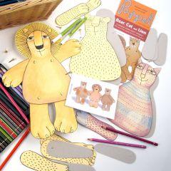 Pappet 'Bear/ Cat & Lion' Paper Craft kit