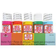 Mod Podge 5 Bottle STARTER SET Decoupage Glue Sealer & Varnish