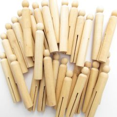 Wooden Dolly Pegs Class Pack of 30
