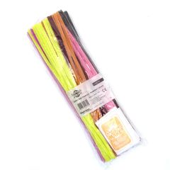 Jumbo Pipe Cleaners Pack of 100 Assorted Colours