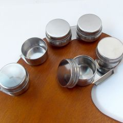 Artists Metal Double Palette Dipper With Lids