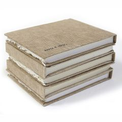 Khadi Paper Hard Back Book Smooth Surface 13x16cm