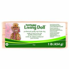 Super Sculpey Beige Living Doll Polymer Clay 454g
