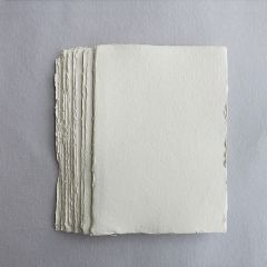 Khadi White Cotton Paper Pack 320gsm A5 100 Sheets