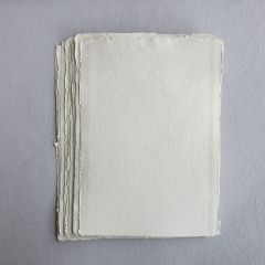 Khadi White Cotton Paper Pack 640gsm A5 50 Sheets