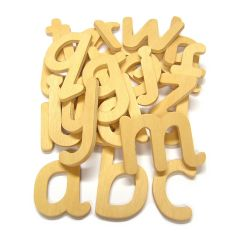 80mm Lower Case Wooden Letters Pack of 26 a-z