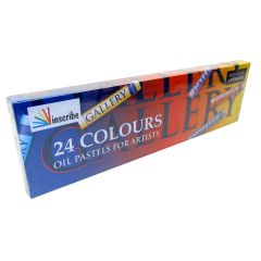 Inscribe Gallery Box Set of 24 Oil Pastels