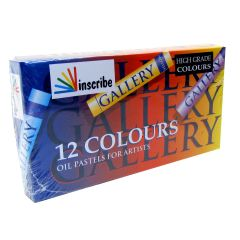 Inscribe Gallery Box Set of 12 Oil Pastels