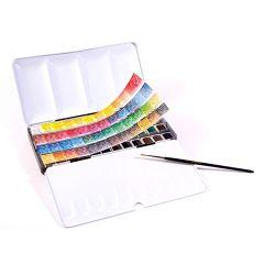 Sennelier Artists Watercolour Classic 48 Half Pan Metal Box Set Box