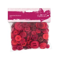 Docrafts Red Assorted Buttons Pack 250g